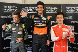 Podio: ganador Jehan Daruvala, segundo lugar Lando Norris, tercer lugar Guan Yu Zhou
