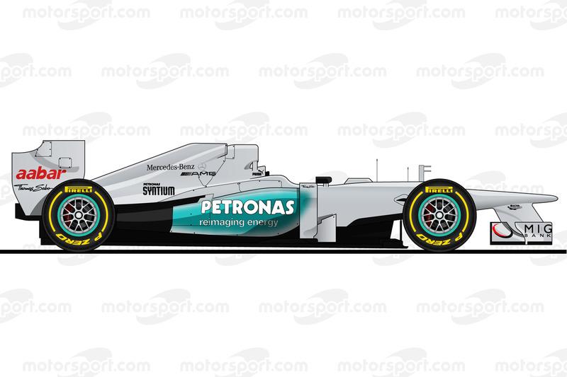 Mercedes W03 de 2012