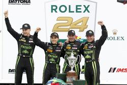 Overall winner: #2 ESM Racing Honda HPD Ligier JS P2: Scott Sharp, Ed Brown, Johannes van Overbeek,