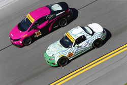 #44 CRG-I Do Borrow Honda Civic Si: Sarah Cattaneo, Owen Trinkler, #26 Freedom Autosport Mazda MX-5: