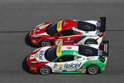 #2 Ferrari of Houston Ferrari 458: Ricardo Perez, #7 Ferrari of Beverly Hills Ferrari 458: Martin Fu