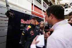 Daniil Kvyat, Red Bull Racing with Ted Kravitz, Sky Sports Pitlane Reporter
