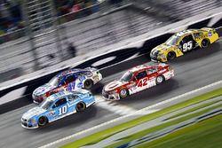 Danica Patrick, Stewart-Haas Racing Chevrolet, AJ Allmendinger, JTG Daugherty Racing Chevrolet, Kyle Larson, Chip Ganassi Racing Chevrolet