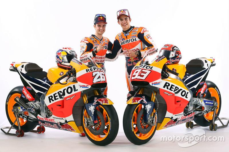 Marc Marquez, Repsol Honda Team and Dani Pedrosa, Repsol Honda Team