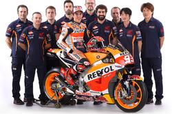 Marc Marquez, Repsol Honda Team avec son équipe