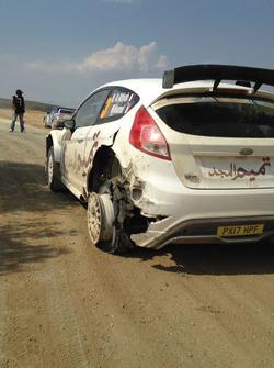 Нассер Аль-Аттия и Матье Бомель, Ford Fiesta R5: прокол