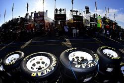 Goodyear-Reifen und NASCAR-Renntransporter