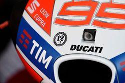 Erinnerung an Angel Nieto am Bike von Jorge Lorenzo, Ducati Team