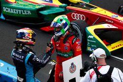 Sébastien Buemi, Renault e.Dams, felicita a Lucas di Grassi, ABT Schaeffler Audi Sport
