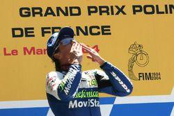 Podium : le vainqueur Sete Gibernau, Telefonica Movistar Honda MotoGP