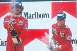 1. Alain Prost, McLaren; 2. Stefan Johansson, McLaren