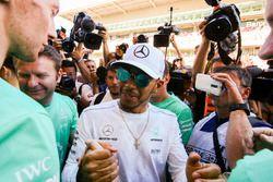Race winner Lewis Hamilton, Mercedes AMG F12
