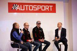 Auf der Autosport-Bühne: Elfyn Evans, Daniel Barritt, DMACK World Rally Team; Ben Taylor; Toby Moody