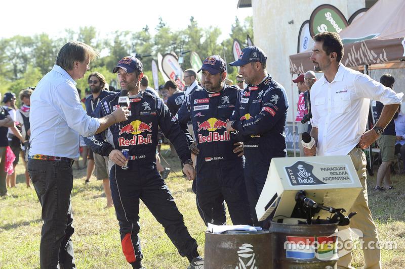 Sébastien Loeb, Daniel Elena, Stéphane Peterhansel, Peugeot Sport