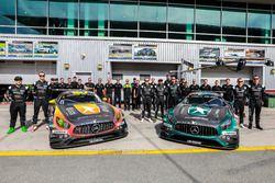 Foto de equipo #2 Black Falcon Mercedes AMG GT3: Khaled Al Qubaisi, Jeroen Bleekemolen, Patrick Asse