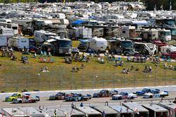 Kaz Grala, GMS Racing Chevrolet nd Matt Crafton, ThorSport Racing Toyota