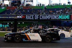 Kurt Busch, races David Coulthard, driving Whelen NASCAR