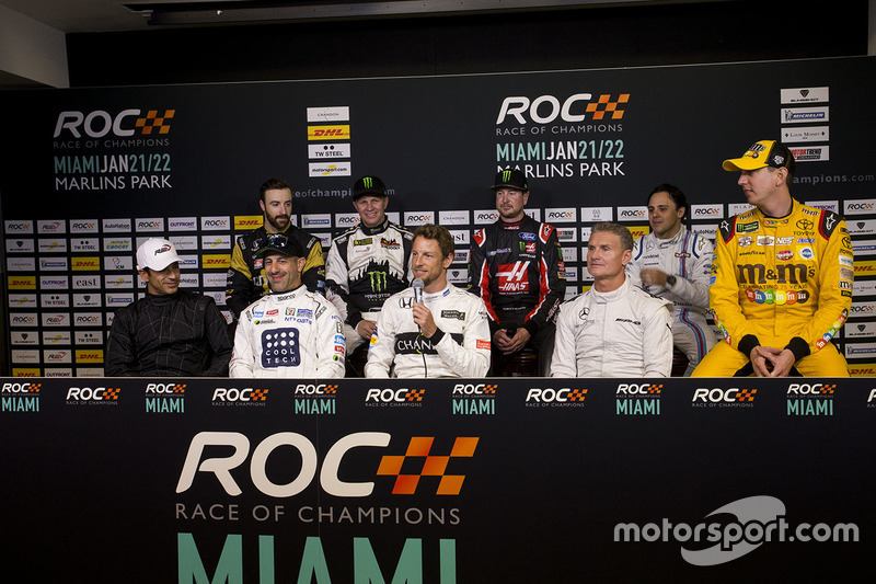 Helio Castroneves, Tony Kanaan, Jenson Button, David Coulthard, James Hinchcliffe, Petter Solberg, Kurt Busch, Felipe Massa