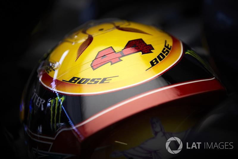 Casco de Lewis Hamilton, Mercedes AMG F1