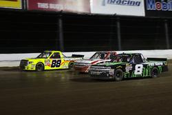 John Hunter Nemechek, SWM-NEMCO Motorsports Chevrolet, Ty Dillon, MDM Motorsports Chevrolet, Matt Cr