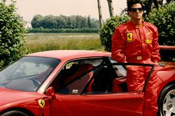 Ferrari F40 with Sylvester Stallone at Fiorano in 1990