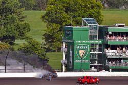 Martin Truex Jr., Furniture Row Racing Toyota wrecks