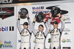 GTD podium: winners Jeroen Bleekemolen, Ben Keating, Mario Farnbacher, Riley Motorsports