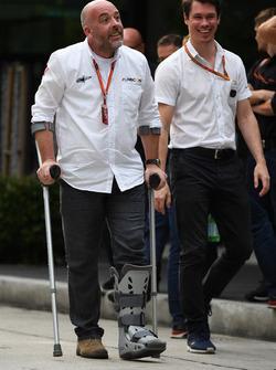 Jason Swales, NBC TV Producer and Alan Van Der Merwe, FIA Medical Car Driver