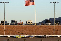 Matt Crafton, ThorSport Racing Toyota, Chase Briscoe, Brad Keselowski Racing Ford, and John Hunter N