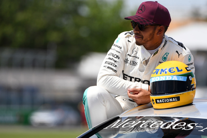 GP de Canadá 2017: El día que Hamilton recibió un casco de Senna