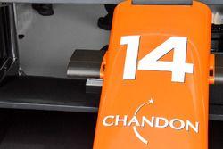 McLaren MCL32: Nase mit Kamera