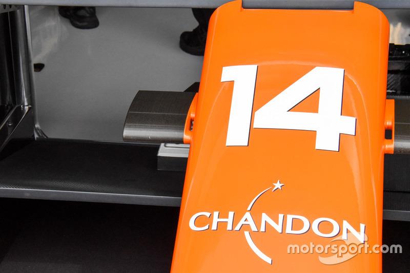 McLaren MCL32, vue détaillée du museau