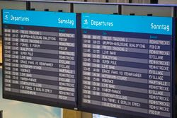 Anzeigetafel am Flughafen Berlin-Tempelhof