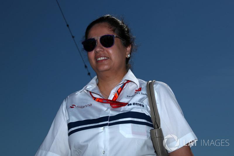 Monisha Kaltenborn se tornou a primeira mulher chefe de equipe da F1, com o cargo na Sauber entre 2012 e 2017.