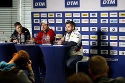 Conférence de presse : Edoardo Mortara, Mercedes-AMG Team HWA, Mercedes-AMG C63 DTM, Mike Rockenfeller, Audi Sport Team Phoenix, Audi RS 5 DTM, Timo Glock, BMW Team RMG, BMW M4 DTM