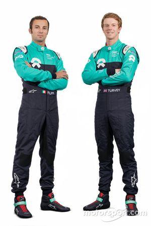 Luca Filippi en Oliver Turvey, NIO Formula E team