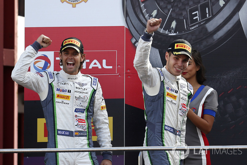 Podio: segundo lugar #8 Bentley Team M-Sport Bentley Continental GT3: Andy Soucek, Vincent Abril