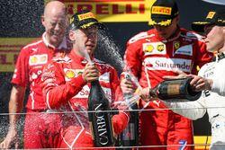 Podium: 1. Sebastian Vettel, Ferrari; 2. Kimi Raikkonen, Ferrari; 3. Valtteri Bottas, Mercedes AMG F