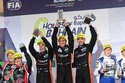LMP2 Podium: first place #26 G-Drive Racing Oreca 05 - Nissan: Roman Rusinov, Alex Brundle, René Ras