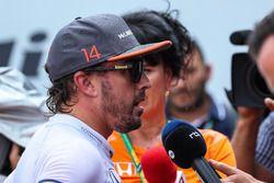 Race retiree Fernando Alonso, McLaren