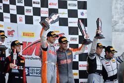 Podium: race winners Ryan Dalziel, Daniel Morad, CRP Racing