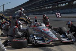 Will Power, Team Penske Chevrolet, s'arrête au stand