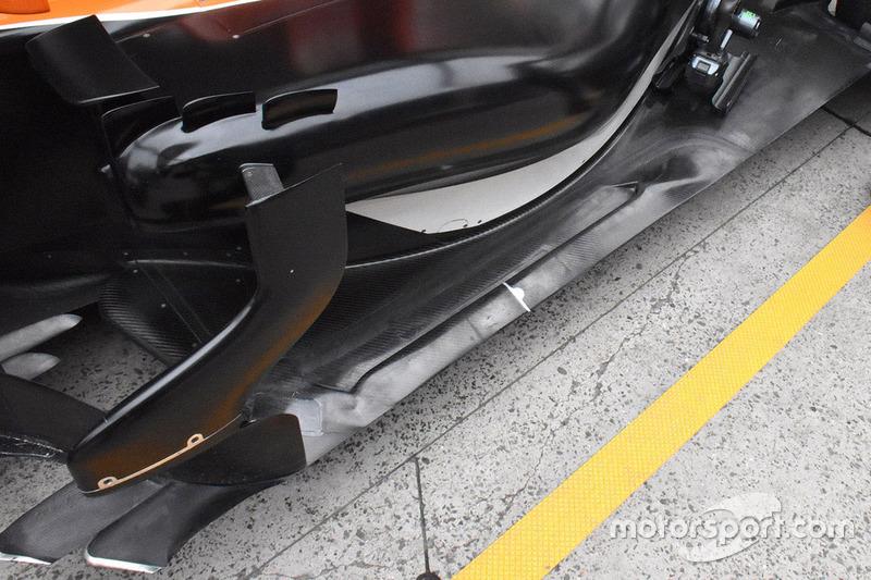 Detalle lateral del McLaren MCL32