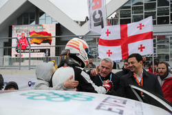 Davit Kajaia, GE-Force, Alfa Romeo Giulietta TCR, mit Marcello Lotti, TCR-Chef