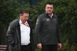 Zak Brown, McLaren-Chef, mit Teamchef Eric Boullier