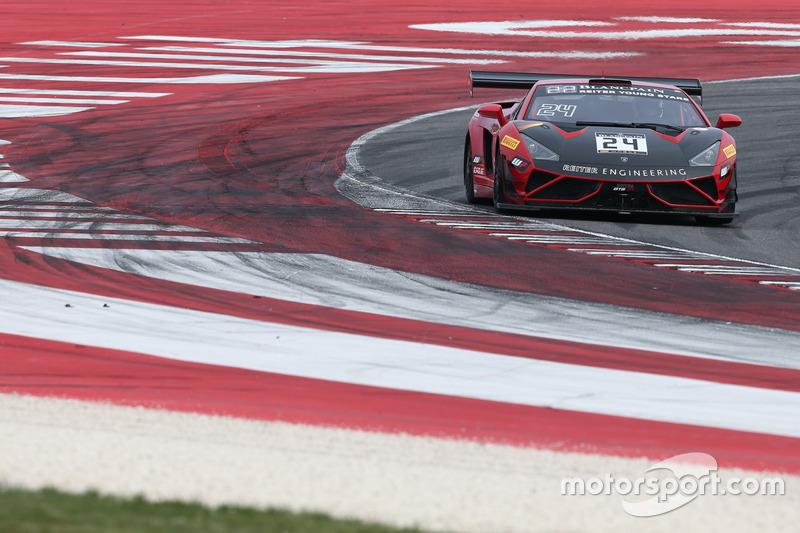 #24 Reiter Young Stars, Lamborghini Reiter Gallardo R-EX: Marko Helistekangas, Caitlin Wood