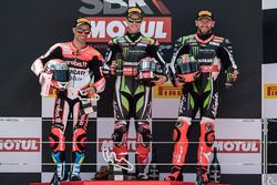 Podium: race winner Jonathan Rea, Kawasaki Racing, second place Marco Melandri, Ducati Team, third p