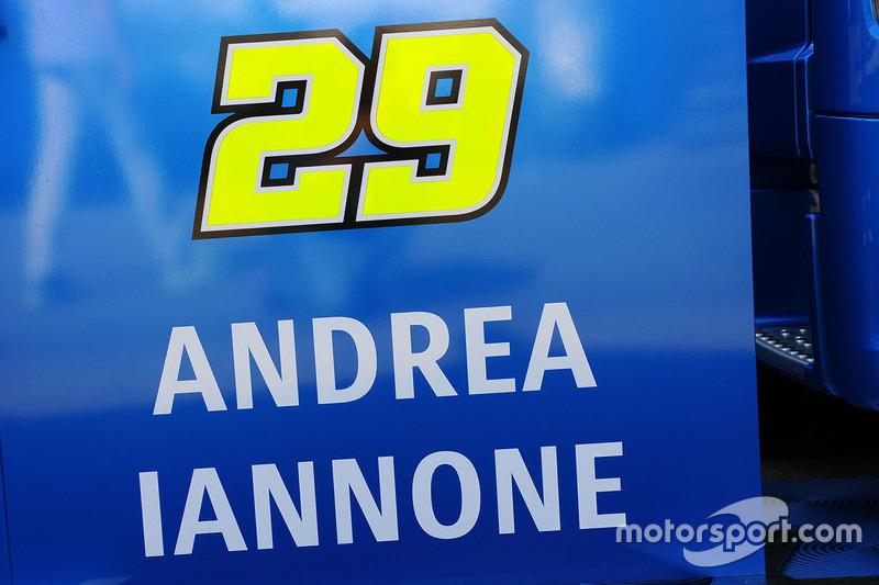 Andrea Iannone, Team Suzuki MotoGP logo