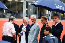 Nigel Mansell, Riccardo Patrese, Keke Rosberg, Damon Hill, Nico Rosberg, Karun Chandhok, David Coult