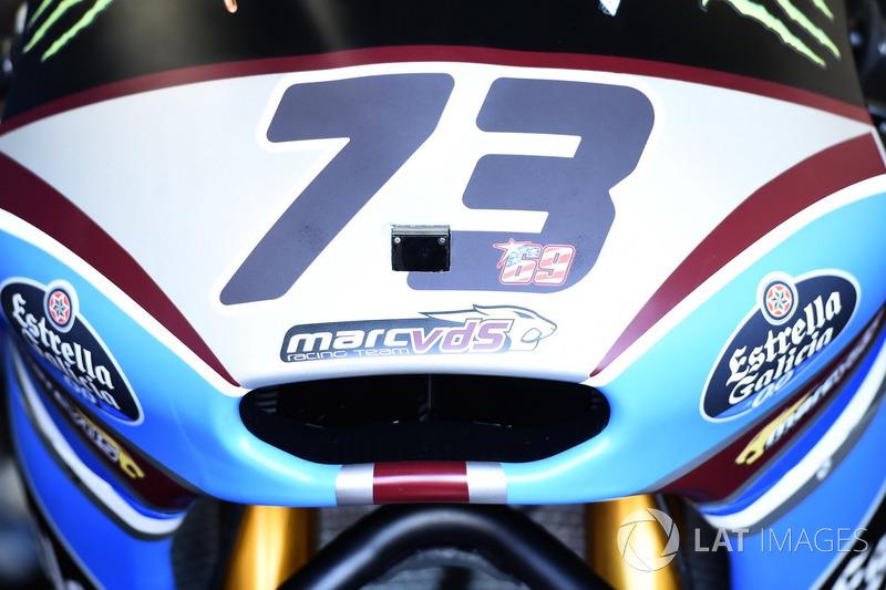 Moto2-Bike von Alex Marquez mit Aufkleber